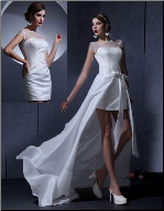 Sweet Satin and Organza Convertible Wedding Dress