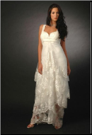 Sweetheart Neckline Lace Maternity Wedding Dress