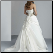 Sweetheart Neckline Taffeta Bridal Gown showing back of gown with corset-style lace-up back and Chapel length train