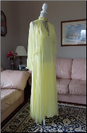 Vintage Chiffon 1960s Floor Length Cap Sleeve Gown in stock size 6