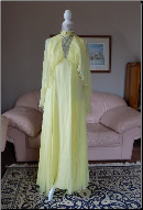 Vintage Chiffon 1960s Floor Length Cap Sleeve Gown  for rent size 6