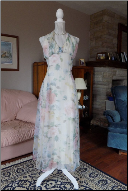 Vintage Jessica McClintock Floral Halter Neck Dress in stock size 12