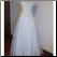 White and Gold Organza Embroidered Gown for rent - size 4, back of gown