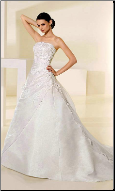 Elegant Satin and Organza Wedding Gown