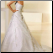 Elegant Satin and Organza Wedding Gown - showing back of gown
