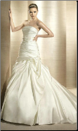 Fit-and-Flare Style Wedding Gown