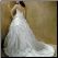 Strapless Taffeta Ballgown - showing corset style lace up back and train
