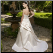 Casablanca A-Line Wedding Dress, back of gown showing elegant closure and train