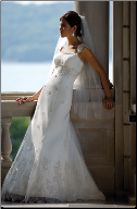 Tulle and Satin Beach Wedding Dress