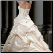 Strapless Taffeta Ballgown Wedding Dress showing back of dress and pick-ups