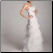 Beautiful Organza Gown, side view of gown