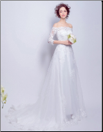 Bridal Gown with Long Lace Sleeves