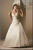 Princess Satin Wedding Gown