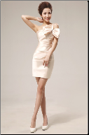 Charming One-Shoulder Satin Bridesmaid Dress
