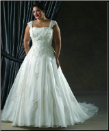 Plus Size Satin and Organza Wedding Dress