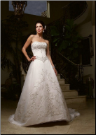 Casablanca Strapless Satin Wedding Dress