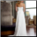 Empire Line Chiffon Wedding Dress shown from the back