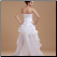 Fabulous Sweetheart High-Low Organza Bridal Dress, back of gown