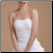 Fabulous Sweetheart High-Low Organza Bridal Dress, close-up of bodice