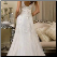 Back of Sweetheart Neckline Embroidered Lace over Satin Bridal Gown
