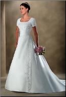 Modest Satin Wedding Dress