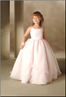 Floor Length Organza Ballgown Flower Girl Dress