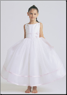 Organza with Satin Flower Girl Dress