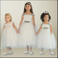 Pretty Tulle over Satin Flower Girl Dress