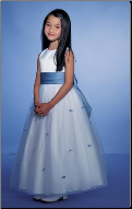 Elegant Tulle over Satin Flower Girl Dress