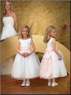 Organza over Satin Flower Girl Dress