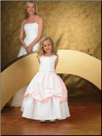 Fairytale Satin Flower Girl Dress