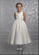 Pretty Taffeta Flower Girl Dress