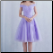 Off-the-shoulder Knee Length Tulle Lace-Up Bridesmaid Dress