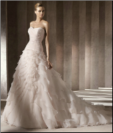 Strapless Organza Ballgown Wedding Dress