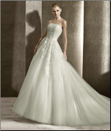 Satin Wedding Ballgown with Tulle and Lace