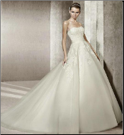 Strapless Satin and Organza Bridal Ballgown