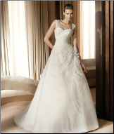 Satin Wedding Dress with Organza and Lace