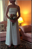 Simple Ivory Wedding Dress with Embroidery size 8