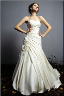 Satin Sweetheart Neckline Wedding Dress