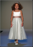 Ankle Length Organza Flower Girl Dress