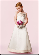 Satin A-Line Flower Girl Dress