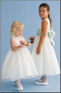 Organza and Satin Flower Girl Dress