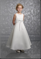 Satin and Lace Flower Girl Dress