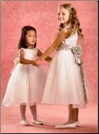 Satin with Organza Flower Girl Dress