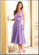 Charming Tea Length Chiffon Bridesmaids Dress
