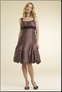 Bateau Neckline Bridesmaid Dress