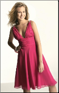 Chiffon Halter Neckline Bridesmaid Dress