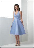 Halter Neckline Taffeta  Bridesmaid Dress