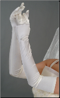 Long Satin Wedding Gloves