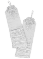 Ruched Satin Bridal Gloves